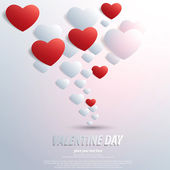 Valentines Day background with heart shape. Vector — Stock Vector