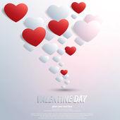 Valentinky den pozadí s tvarem srdce. vektor — Stock vektor