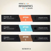 Minimal infographics. vektor — Stockvektor