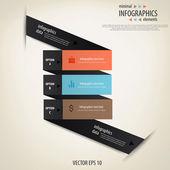 Infografica minimale. vector — Vettoriale Stock