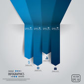 Minimale infografiken. vektor — Stockvektor