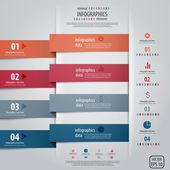 最小限のインフォ グラフィック デザイン。ベクトル — ストックベクタ