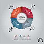 Minimal infographics design. Vector — 图库矢量图片