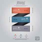 Diseño de infografías mínima. vector — Vector de stock