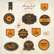 Set of retro stickers and labels. Vector — Stock Vector