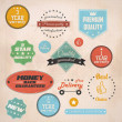 Set of retro stickers and labels. Vector — Stock Vector #22268559