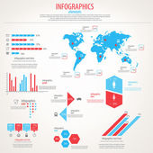 Viaje conjunto de infografía. gráficos de mapa e información mundial. vec — Vector de stock