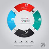 Design minimal infografica. vector — Vettoriale Stock