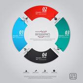 Minimal infographics tasarım. vektör — Stok Vektör