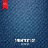 Denim jeans texture pattern. Vector — Stock Vector