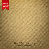 Brown Fabric Texture. Vector — Stock Vector