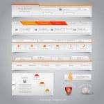Web design navigation set. Vector — Stock Vector #23506193