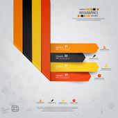 Conception infographie minime. vector — Vecteur