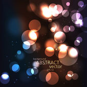 Abstract background with blurred defocused lights. Vector — Stock Vector