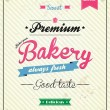 Vector de stock : Bakery Retro Design Template. Vector