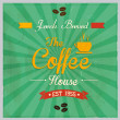 Retro-Vintage premium Coffee Background. Vector — Imagen vectorial