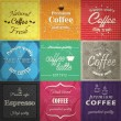 Set of retro coffe label cards. Vector — ストックベクター #25366413