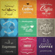 Set of retro coffe label cards. Vector — Vettoriale Stock #25366413