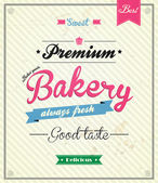 Bakery Retro Design Template. Vector — Stok Vektör