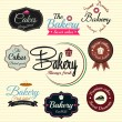 Retro Bakery Badges And Labels. Vector — Stock Vector