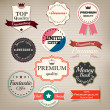 Stockvector : Set of stickers and ribbons. Vector