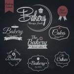 Set of retro bakery labels, Chalk typography design. Vector — Stock Vector