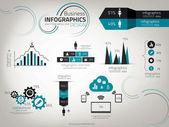 Infografía diseño de plantilla. vector — Vector de stock