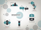 Infographics Design template. Vector — Vector de stock