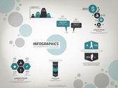 Infographics ontwerpsjabloon. vector — Stockvector
