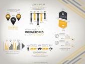 Viaggio infografica — Vettoriale Stock