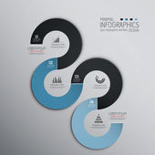 Minimal infographics design. Vector — ストックベクタ