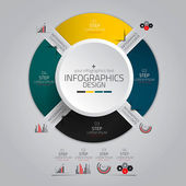 Minimal infographics design. Vector — Stockvector