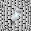 Hexagon background. Vector — Imagen vectorial