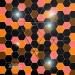 Hexagon background. Vector — Stock Vector