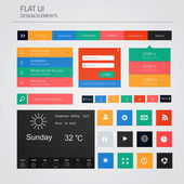 UI elements for web and mobile. Flat design. Vector — Stock Vector