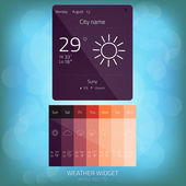 Weather Widget, Button, Sign, Symbol, Emblem, Sticker, Logo for — Stok Vektör