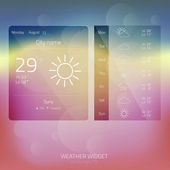Weather Widget, Button, Sign, Symbol, Emblem, Sticker, Logo for — Stock Vector