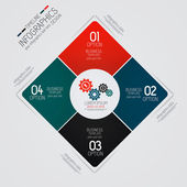 Minimal infographics design. Vector can be used for workflow lay — Cтоковый вектор