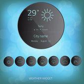 Weather widget template. Vector — Stock Vector