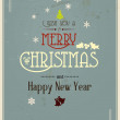 Typography Christmas Greeting Card. Vector — Stock Vector