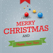 Typography Christmas Greeting Card. Vector — Vettoriali Stock