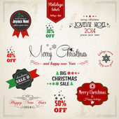 Christmas decoration collection. Vector — Stockvektor