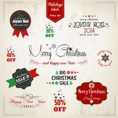 Noel dekorasyon koleksiyonu. vektör — Stok Vektör