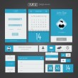 UI elements for web and mobile.Icons and buttons.Flat design. Ve — Stockvectorbeeld