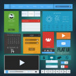 UI elements for web and mobile.Icons and buttons.Flat design. Ve — Imagen vectorial