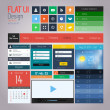 UI elements for web and mobile. Flat design. Vector — Stockvectorbeeld
