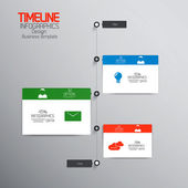 Minimal infographics design.Timeline. Vector — Stock Vector