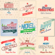 Vintage styled Christmas Card - Set of calligraphic and typograp — ベクター素材ストック