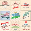 Vintage styled Christmas Card - Set of calligraphic and typograp — Stock Vector