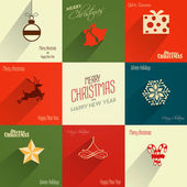 Vintage styled Christmas Card — Vector de stock